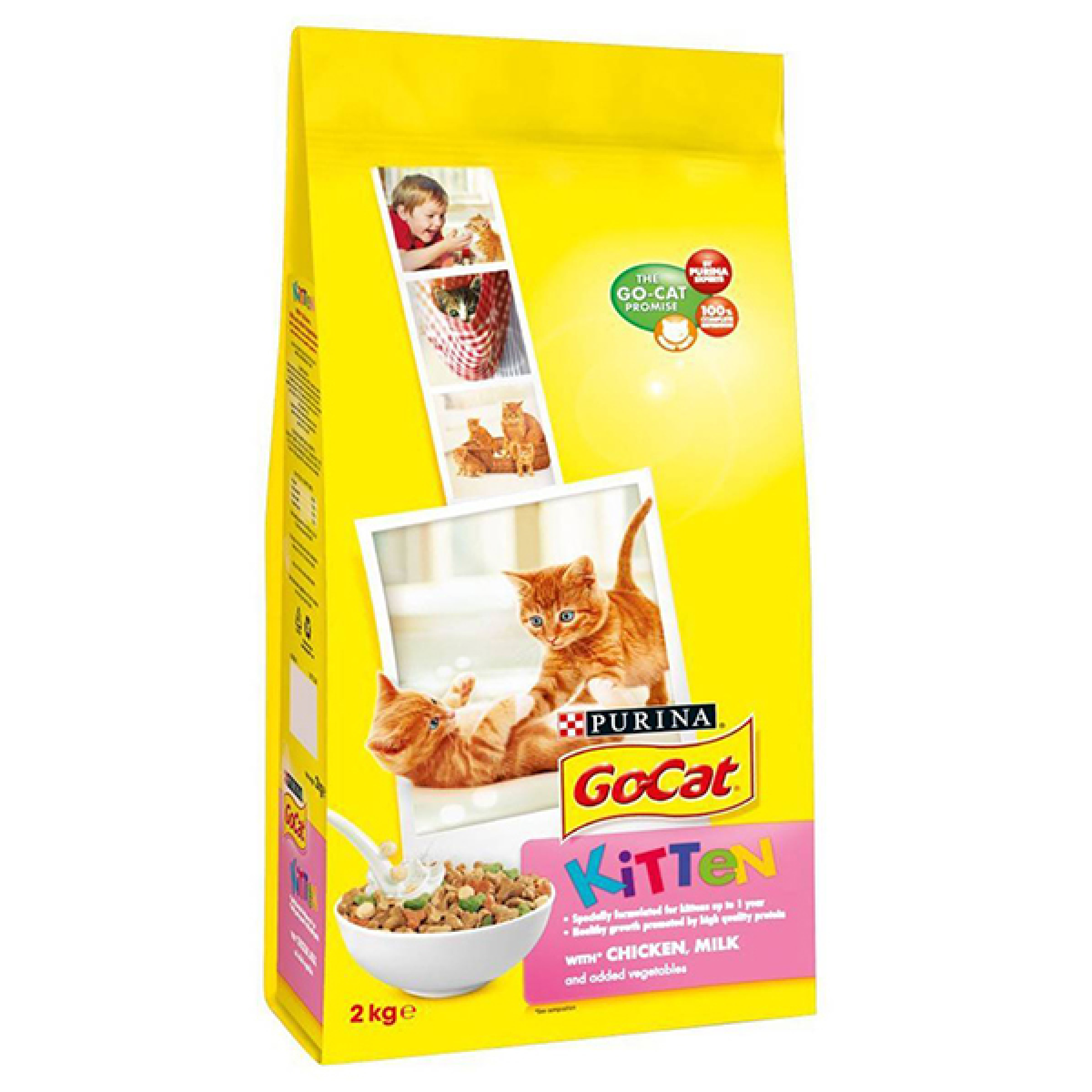 """Сухой корм для котят с курицей, молоком и полезными овощами """"Friskies"""", 2кг"""