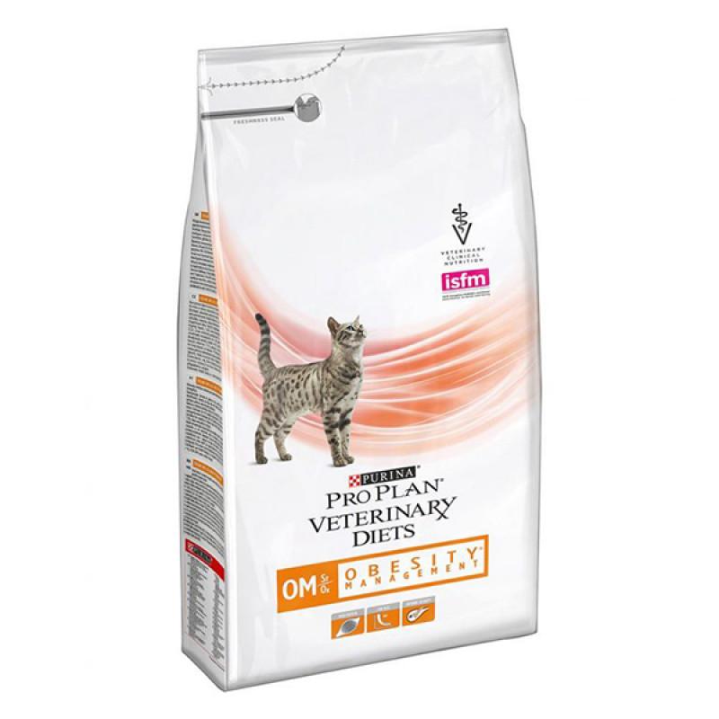 "Сухой корм для кошек при ожирении ""Purina Pro Plan (вет. корма)"" ОМ, 1. 5кг"