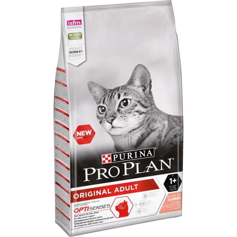 """Корм сухой Pro Plan """"Adult"""" для взрослых кошек с лососем, 10 кг"""
