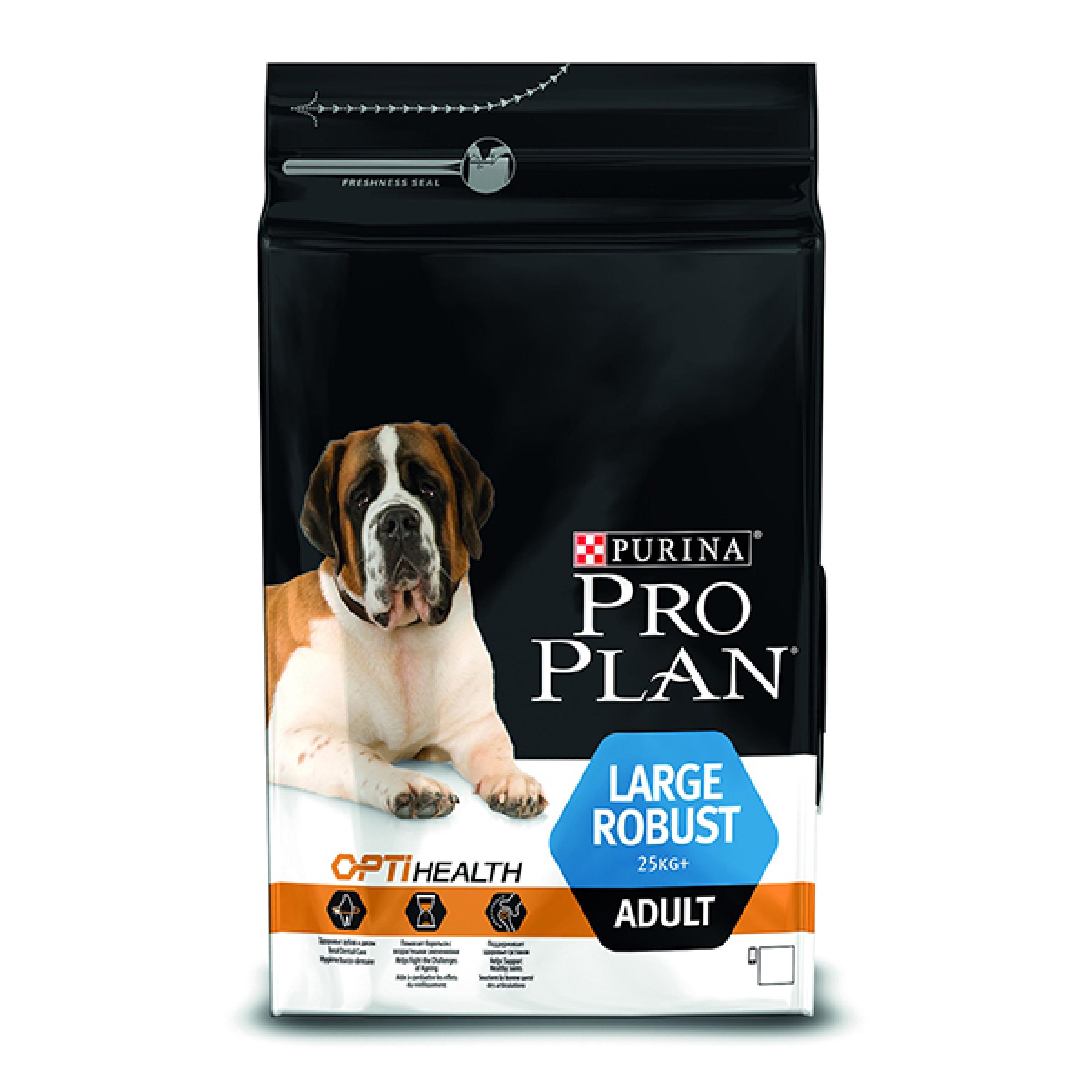 """Сухой корм для взрослых собак крупного мощного телосложения с курицей """"Purina Pro Plan"""", 14кг"""