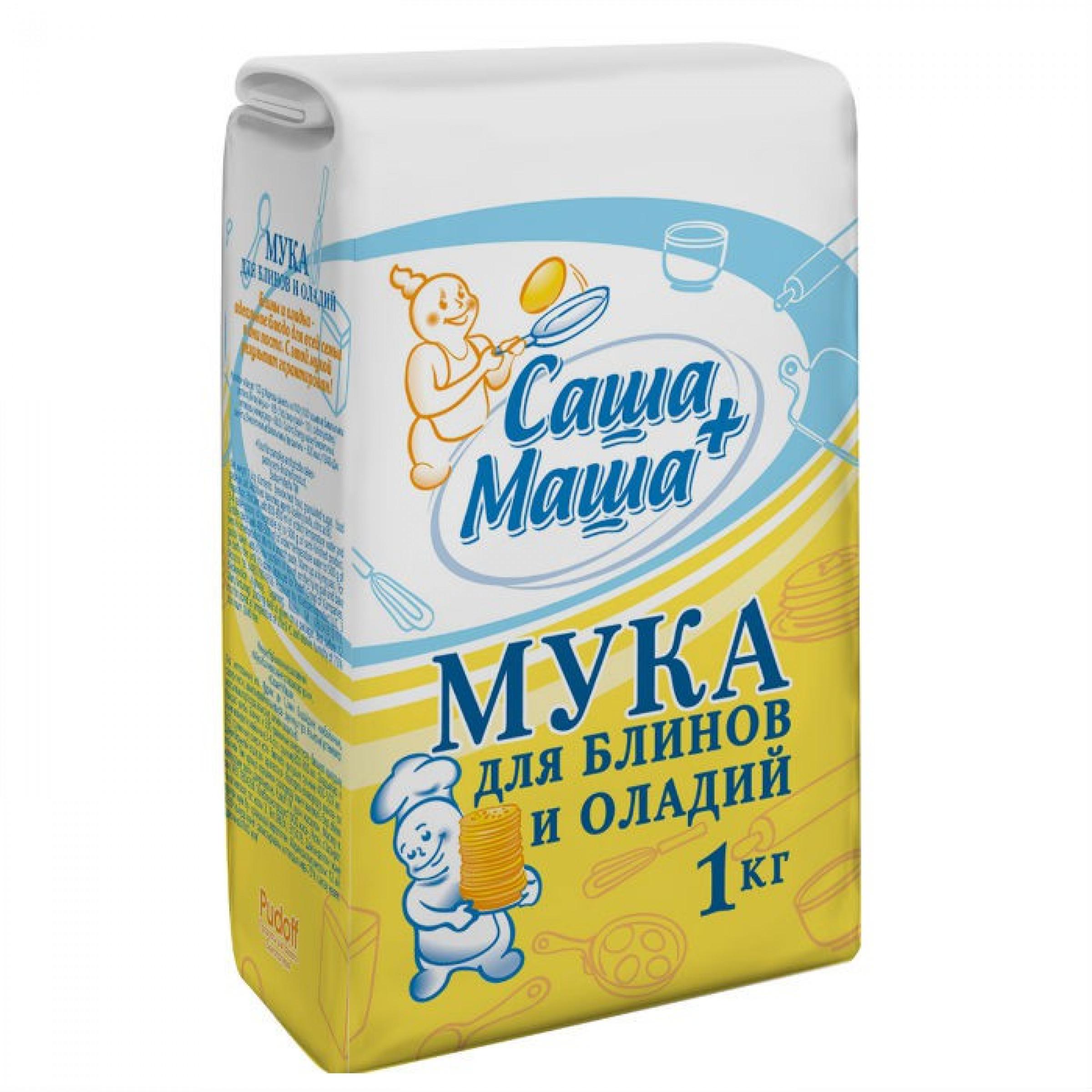 Мука для блинов и оладий Саша+Маша, 1 кг