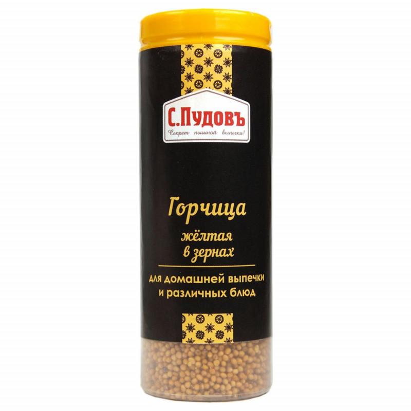 Горчица желтая в зернах С. Пудовъ, 80 г