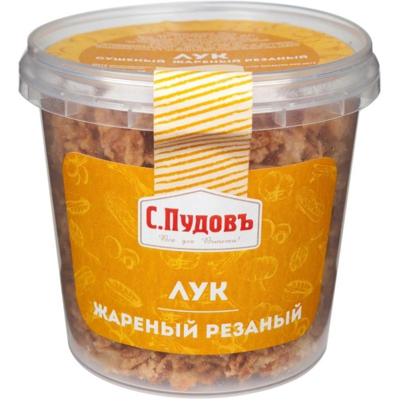 Лук сушеный жареный резаный С. Пудовъ, 100 г