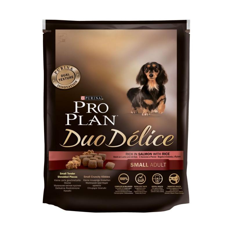 Сухой корм Pro Plan Duo Delice для взрослых собак мелких пород, с лососем, 700 гр