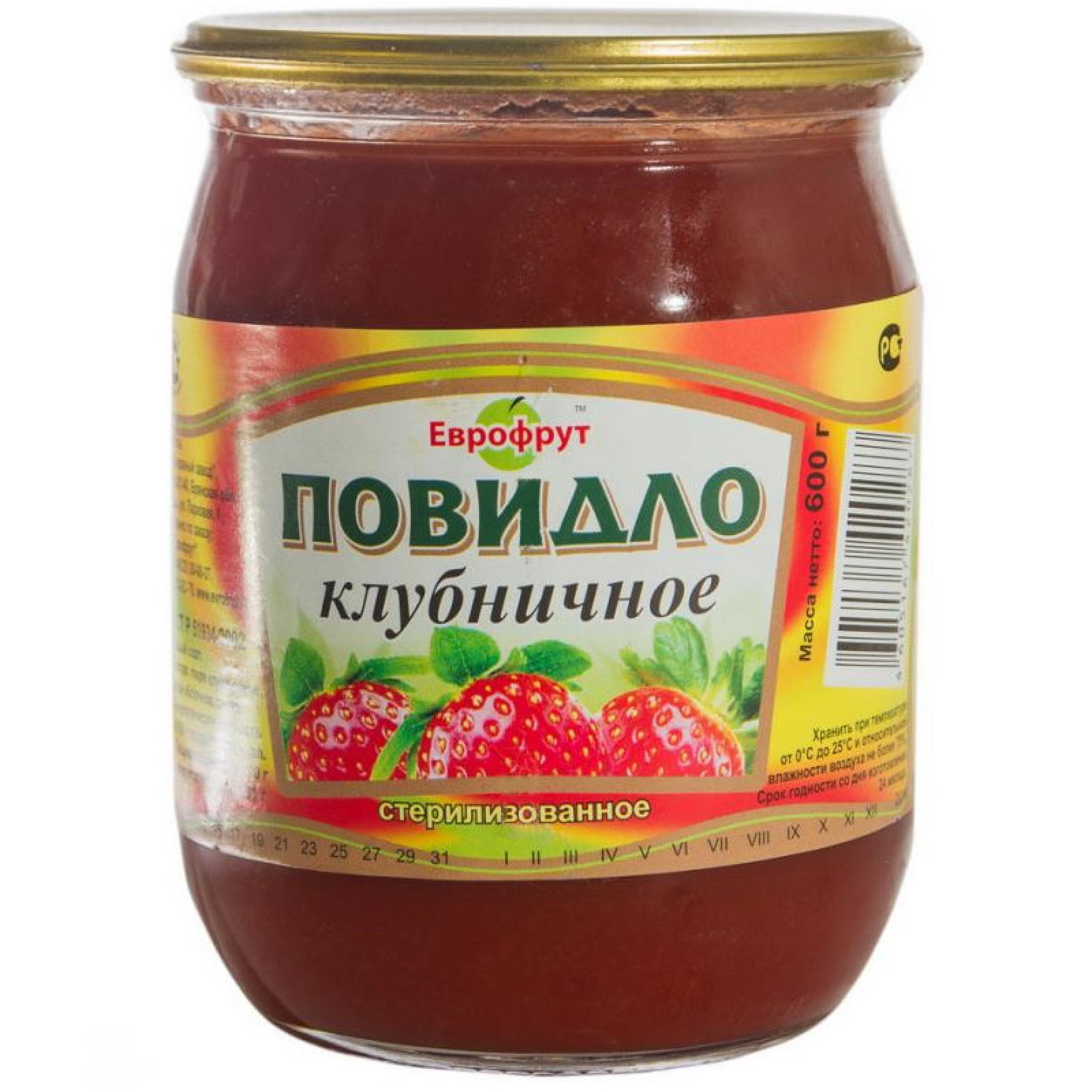 """Повидло клубничное ГОСТ """"Клинцы"""", 600гр"""
