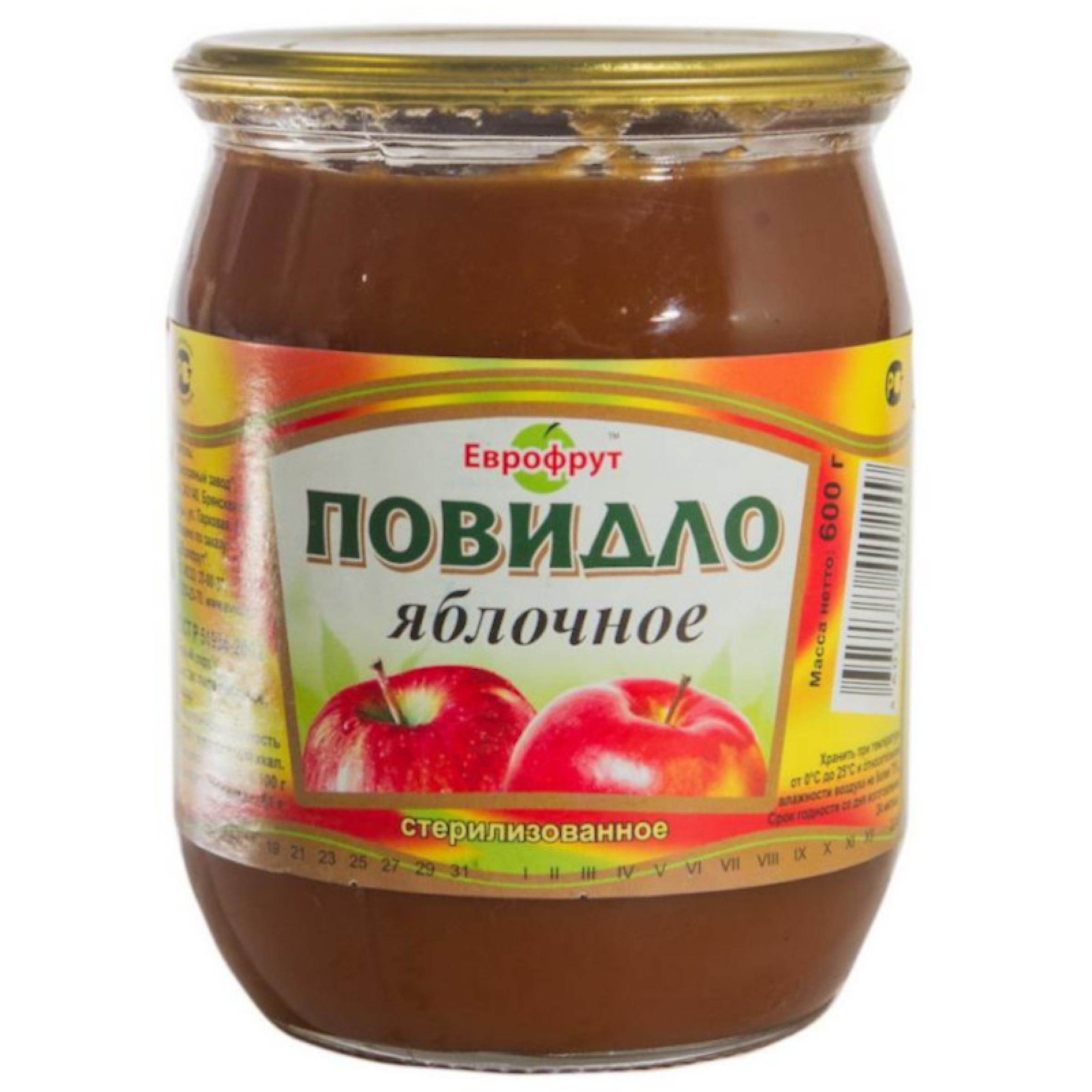 "Повидло яблочное ГОСТ ""Клинцы"", 600гр"