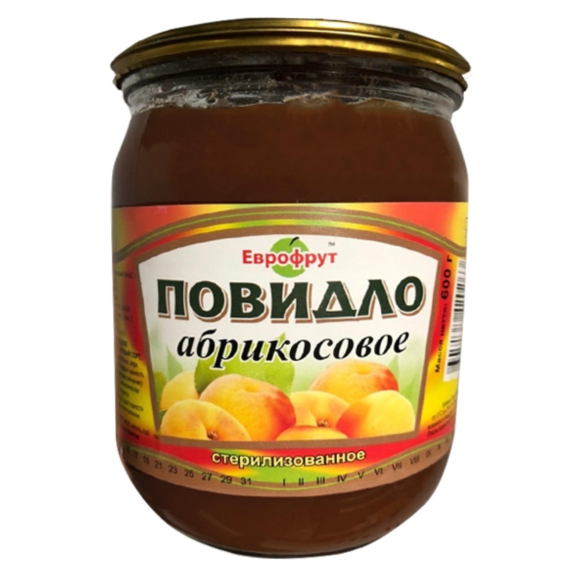"""Повидло абрикосовое ГОСТ """"Еврофрут"""", 600гр"""