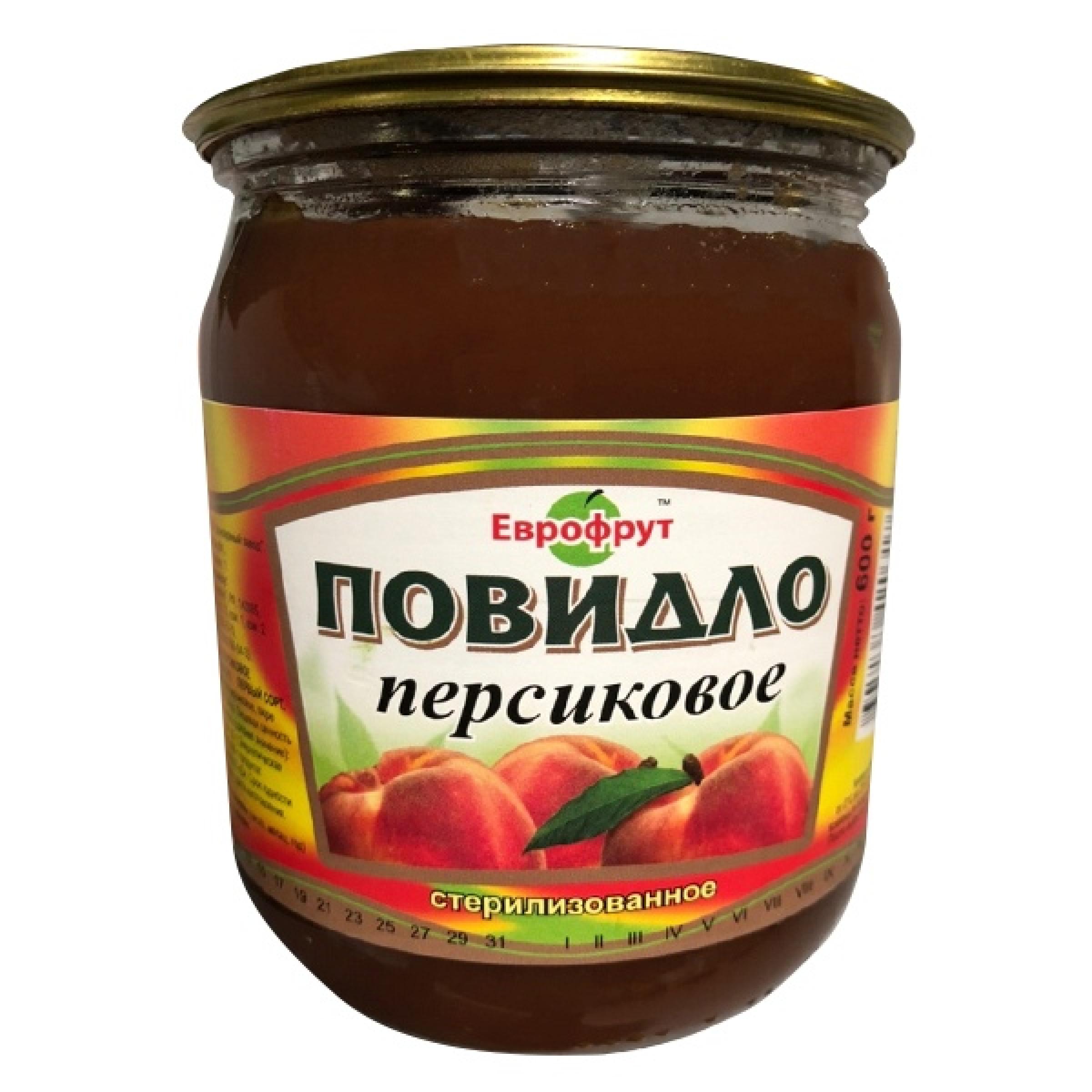 """Повидло персиковое ГОСТ """"Еврофрут"""", 600гр"""