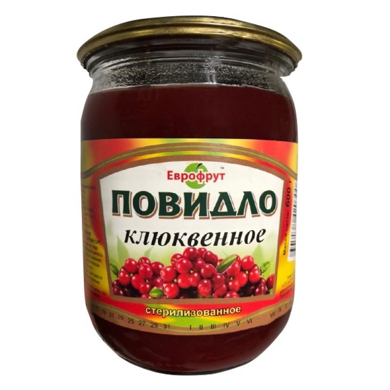 "Повидло клюквенное ГОСТ ""Еврофрут"", 600гр"