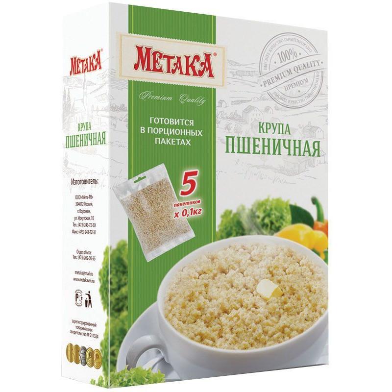"""Пшеничная крупа в варочных пакетах """"Метака"""", 5*100гр"""