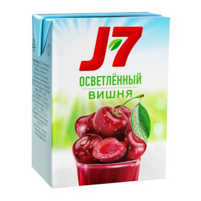 """Нектар вишневый осветленный """"J-7"""", 0. 2л"""
