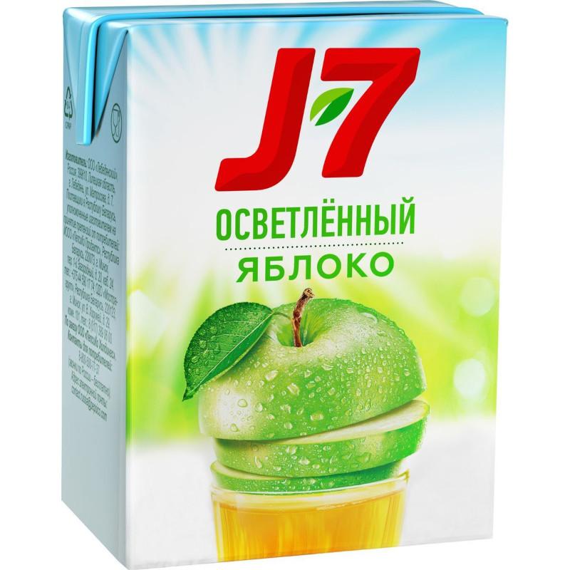 """Сок яблочный осветленный """"J-7"""", 0. 2л"""