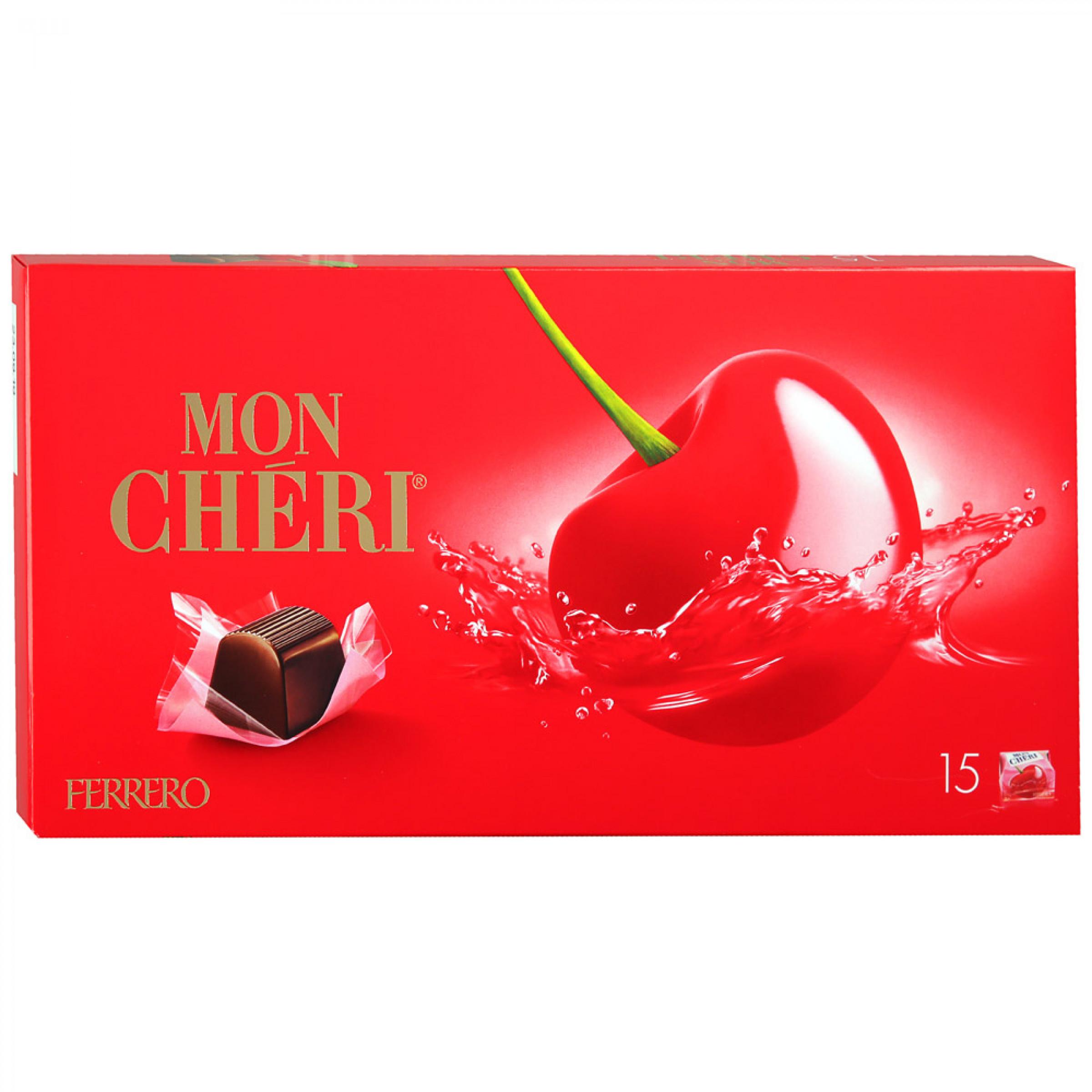 "Конфеты с вишней и ликером Mon Cheri ""Ferrero"", 157. 5гр"