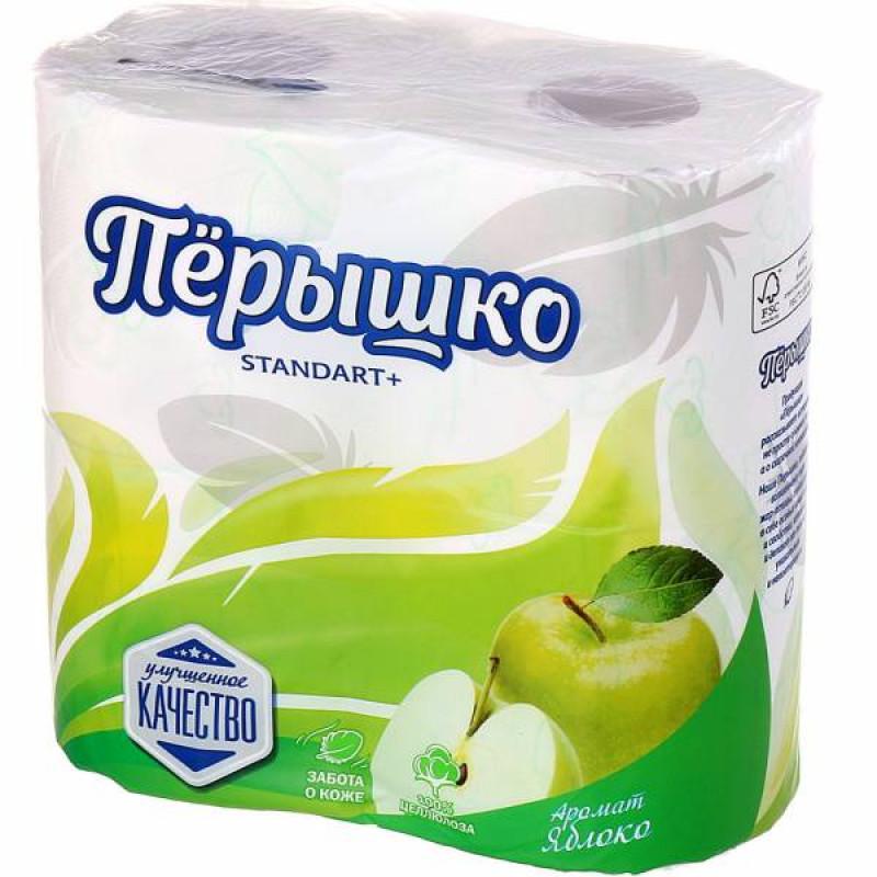 """Туалетная бумага 2 слоя """"Перышко"""" 4 рулона, 1шт"""