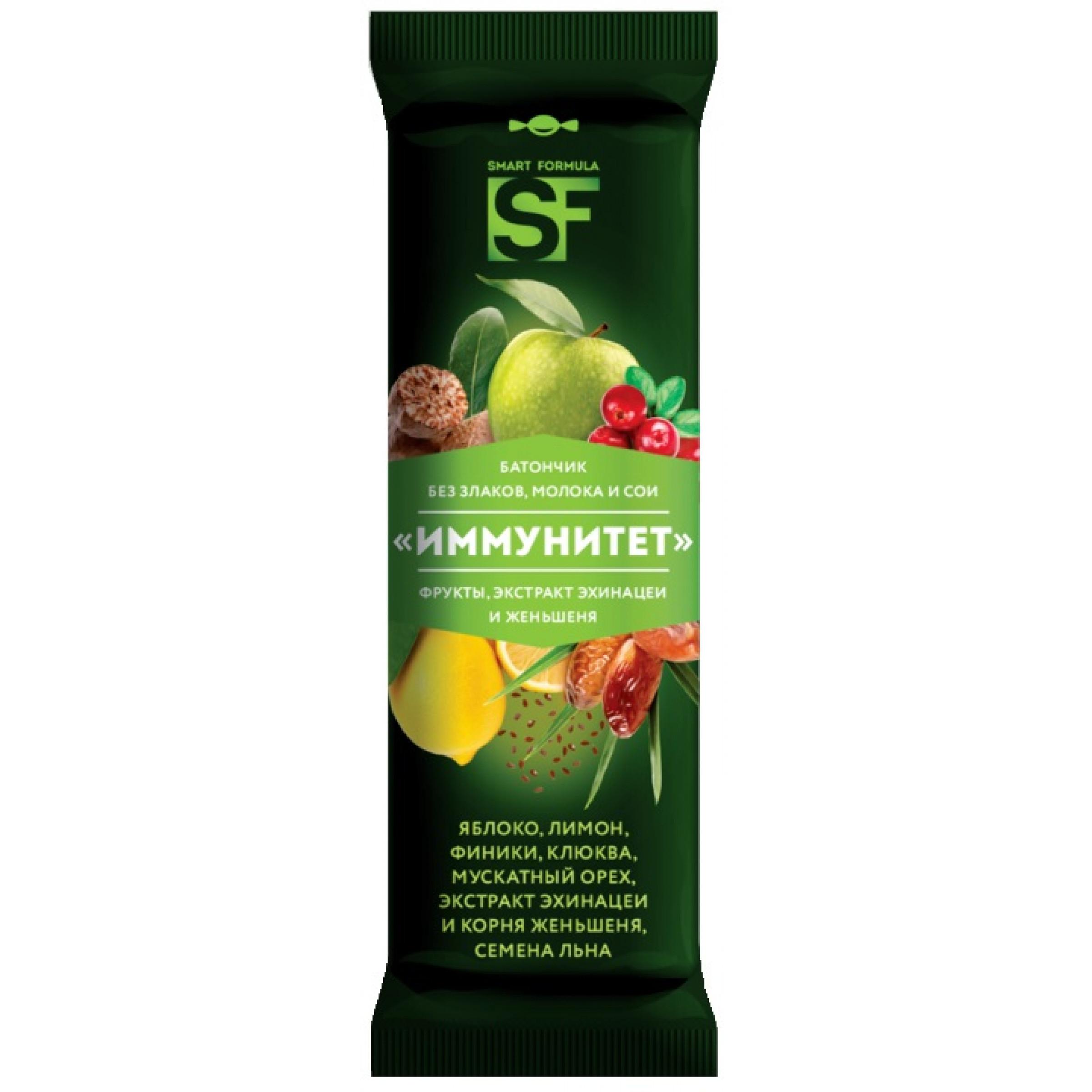 """Батончик фруктовый """"Smart Formula Иммунитет"""", 40гр"""