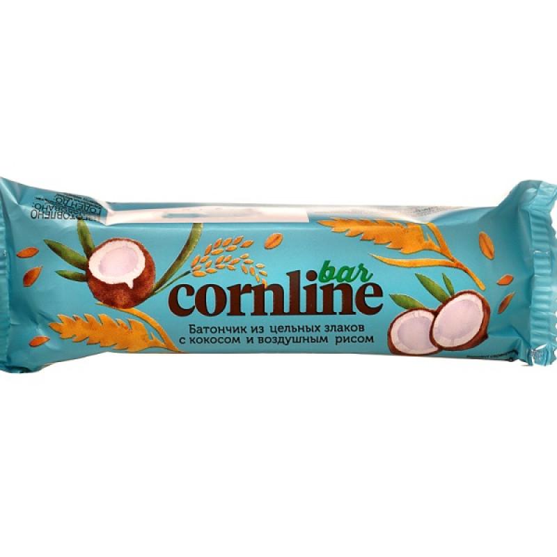 """Батончик из цельных злаков с кокосом и воздушным рисом """"Cornline"""", 30гр"""