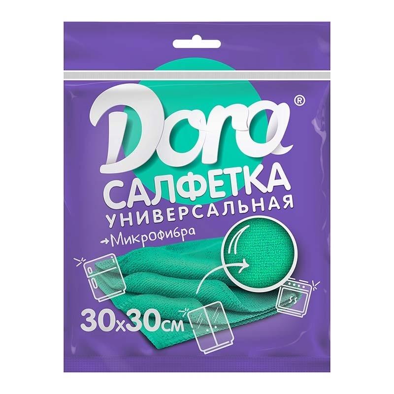 """Салфетка универсальная из микрофибры 30х30 см """"Dora"""", 1шт"""