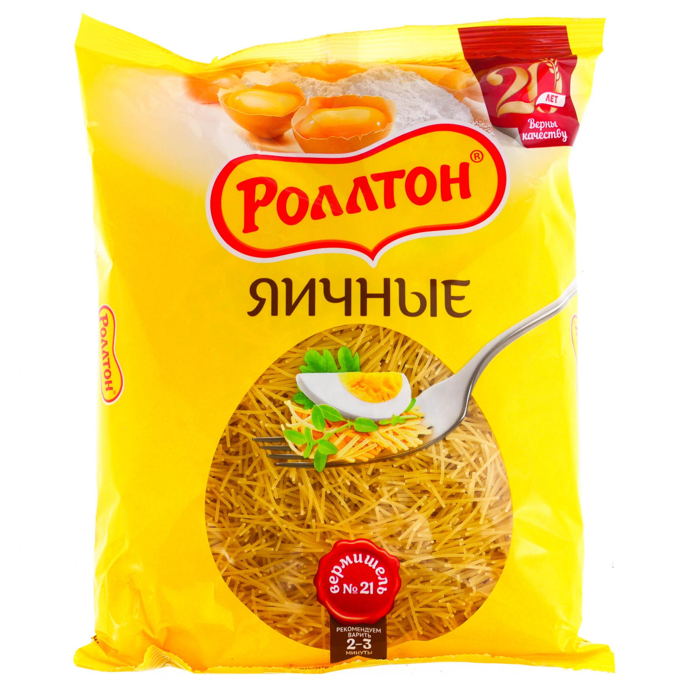 """Макаронные изделия яичные вермишель """"Роллтон"""", 400гр"""