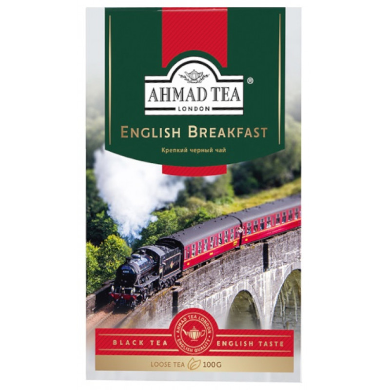 """Чай черный английский завтрак """"Ahmad Tea"""", 100гр"""