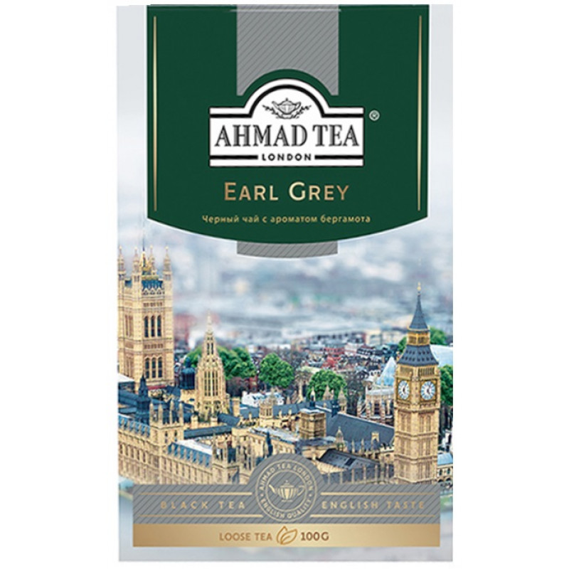 """Чай черный эрл грей """"Ahmad Tea"""", 100гр"""