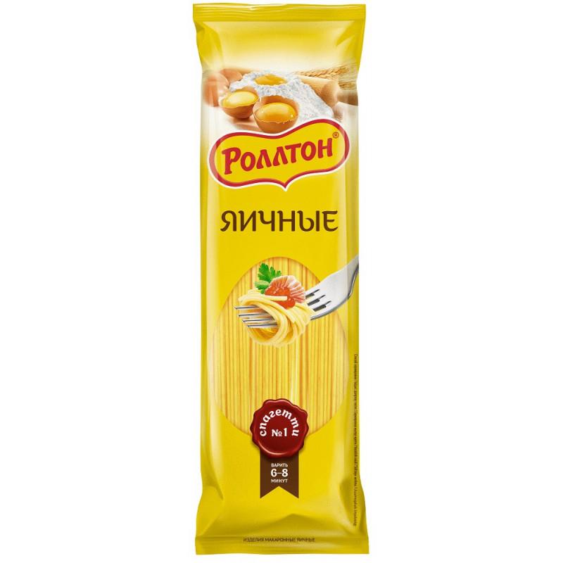 """Макаронные изделия яичные спагетти """"Роллтон"""", 400гр"""
