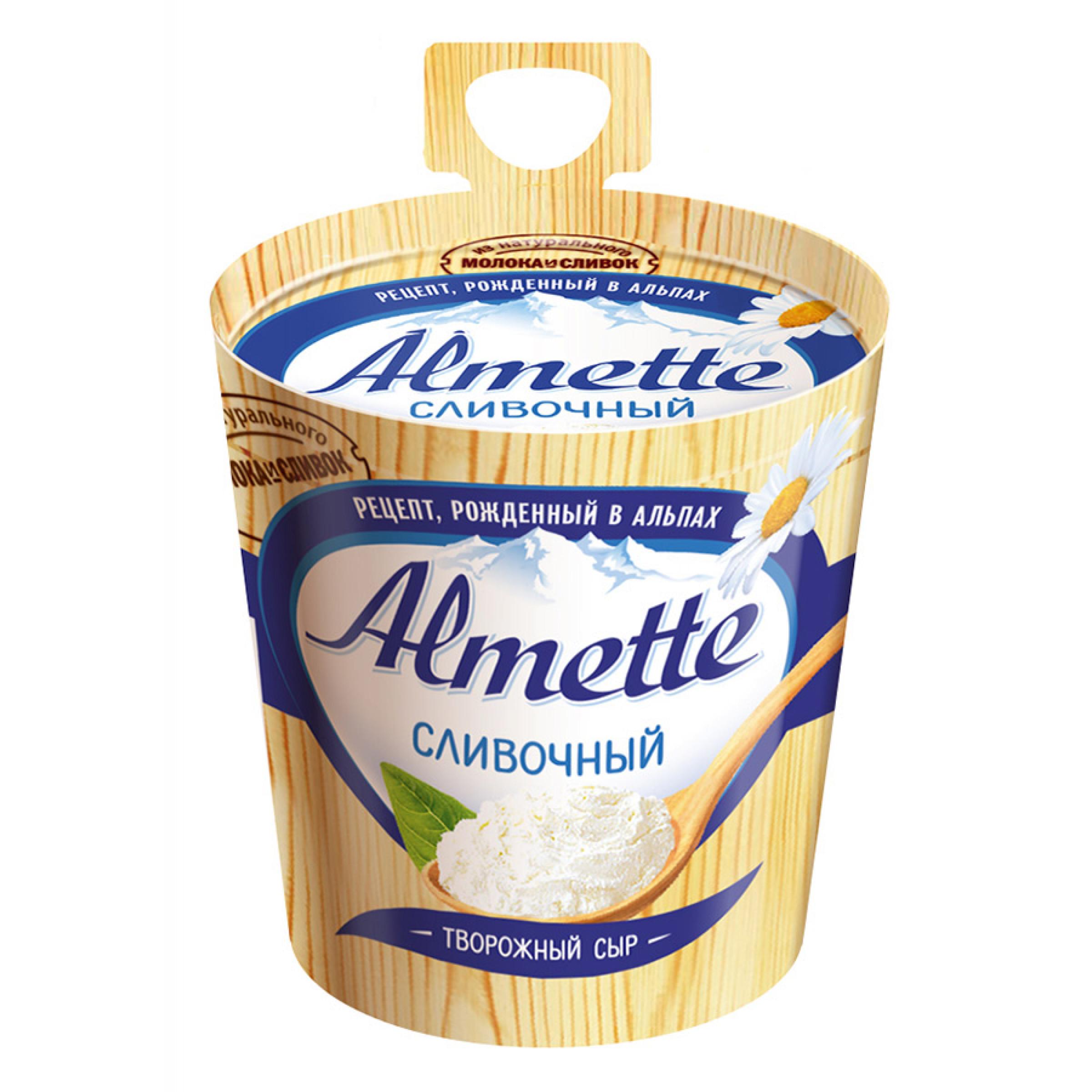 """Сыр творожный """"Almette Hochland"""" 60% сливочный, 150гр."""