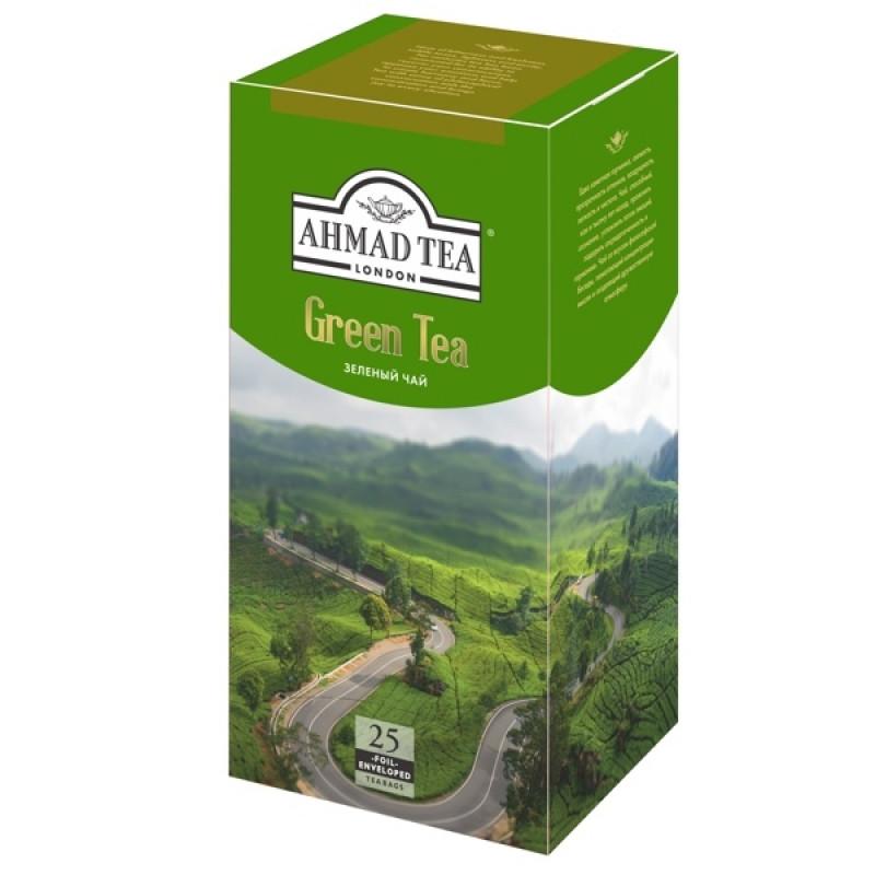 """Чай зеленый """"Ahmad Tea"""", 25шт*2гр"""