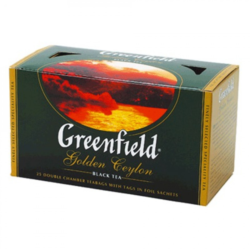 "Чай черный Golden Ceylon ""Greenfield"", 25*2гр"