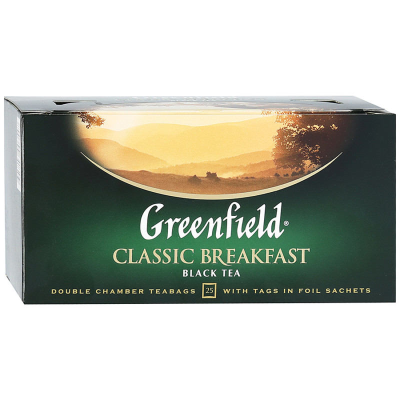 "Чай черный индийский Classic Breakfast ""Greenfield"", 25пак*1. 5гр"