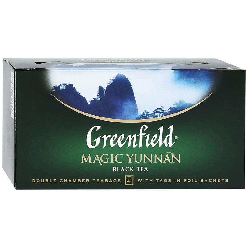"Чай черный китайский Magic Yunnan ""Greenfield"", 25пак*1. 5гр"