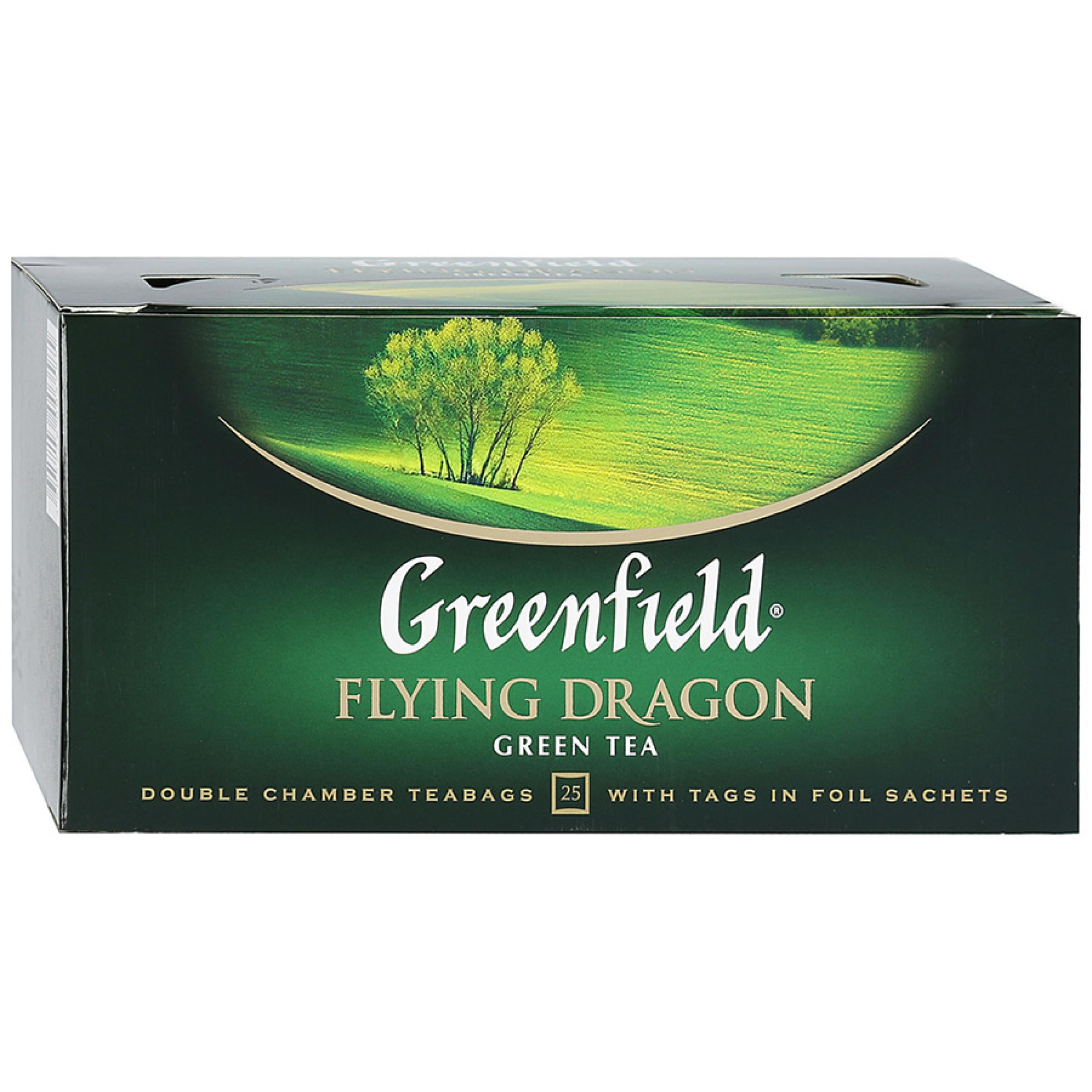 "Чай зеленый китайский Flying Dragon ""Greenfield"", 25пак*2гр"