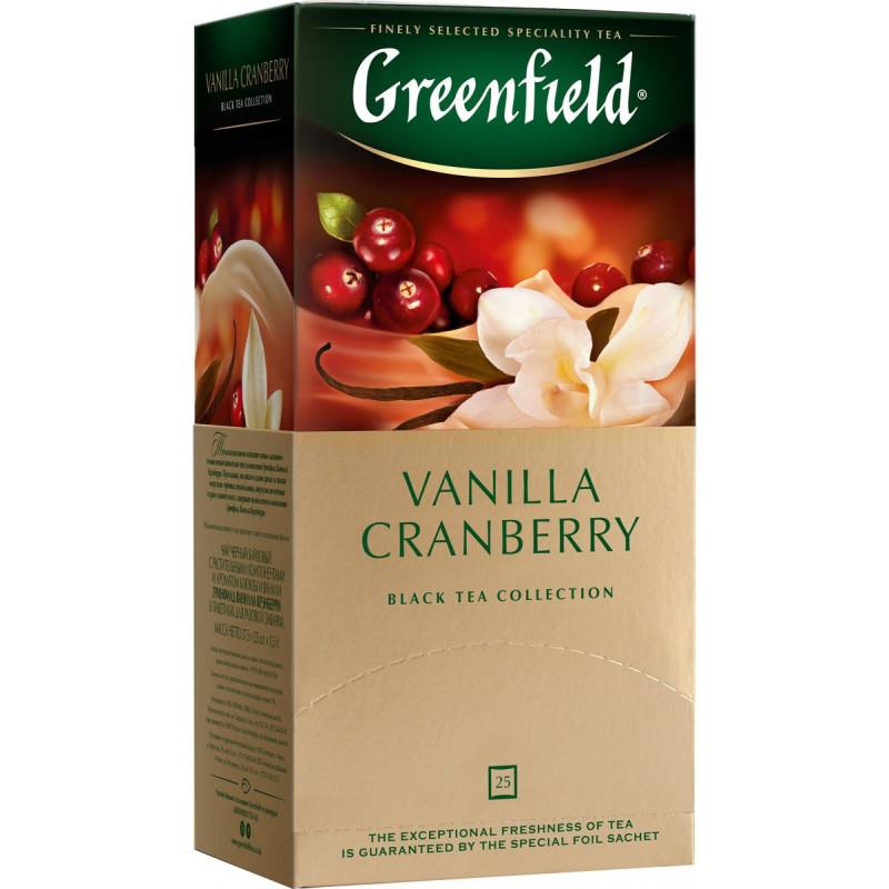 "Чай черный байховый Vanilla Cranberry ""Greenfield"", 25пак*1. 5гр"