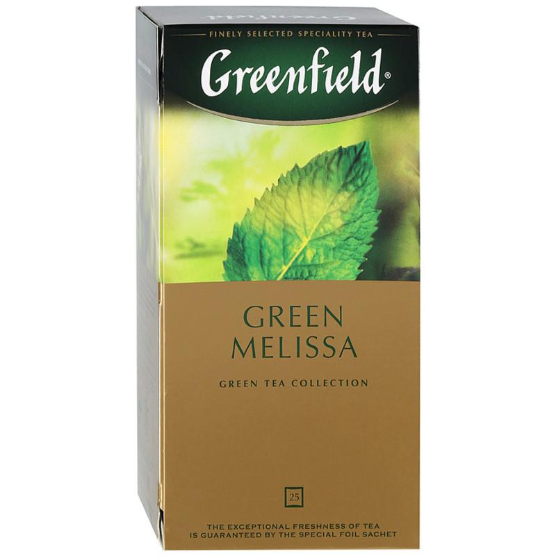 "Чай зеленый китайский Green Melissa ""Greenfield"", 25пак*1. 5гр"