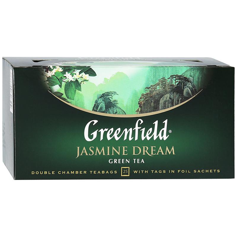 "Чай зеленый китайский Jasmine Dream ""Greenfield"", 25пак*1. 5гр"