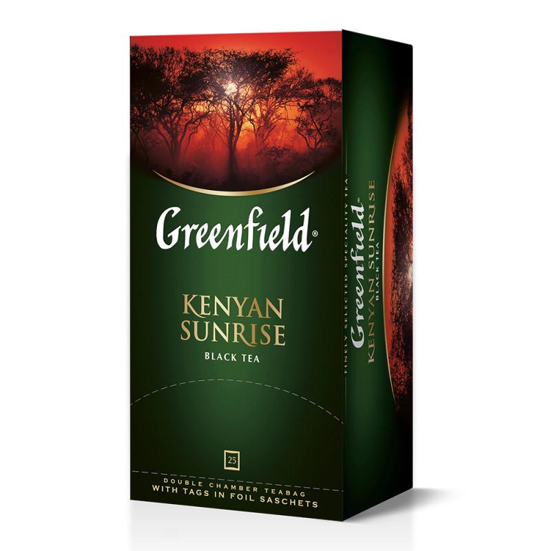 """Чай черный Kenyan Sunrise """"Greenfield"""", 25пак*2гр"""