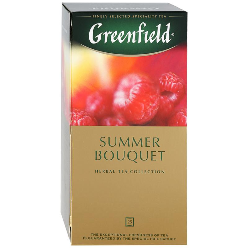 """Чай фркутовый со вкусом и ароматом малины Summer Bouquet """"Greenfield"""", 25пак*2гр"""
