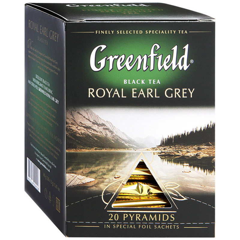 "Чай черный Royal Earl Grey в пирамидках ""Greenfield"", 20пак*2гр"