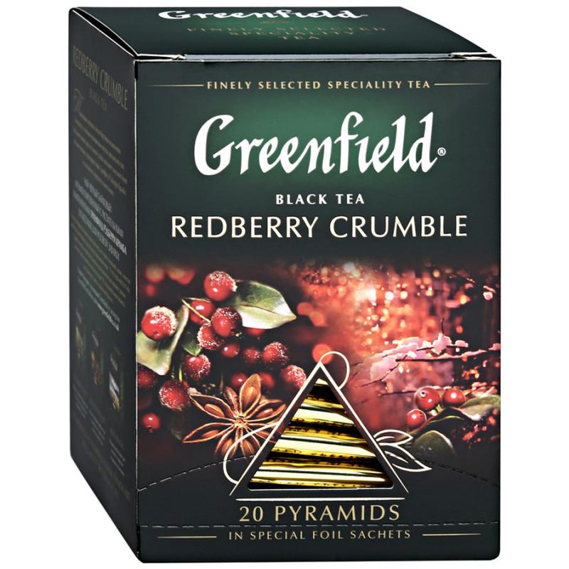 """Чай черный с растительными компонентами Redberry Crumble в пирамидках """"Greenfield"""", 20пак*1. 8гр"""