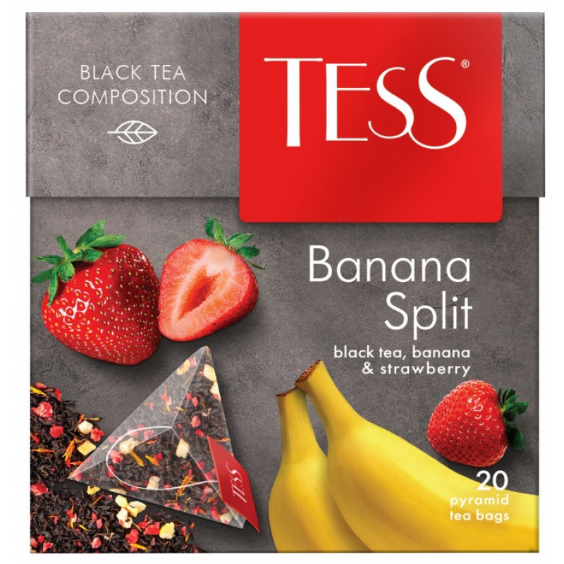 """Чай черный ароматизированный Banana Split """"Tess"""", 20пак*1. 8гр"""
