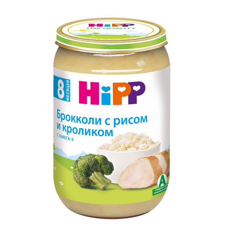 "Пюре из брокколи, риса и кролика с 8 месяцев ""Hipp"", 220гр"