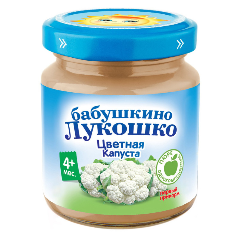 """Пюре из цветной капусты с 4 месяцев """"Бабушкино лукошко"""", 100гр"""