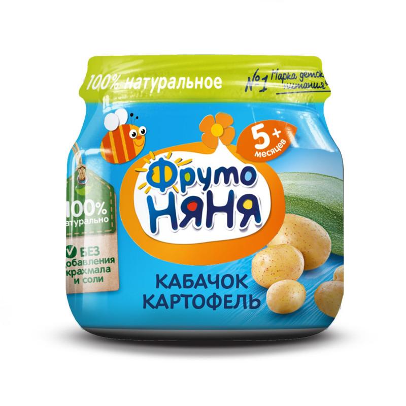 """Пюре из кабачка и картофеля """"ФрутоНяня"""", 80гр"""