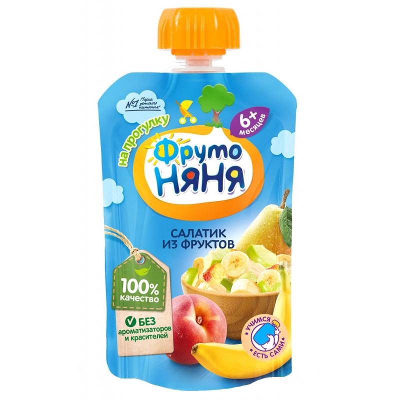 """Пюре из бананов, груш, яблок и персиков с 6 месяцев """"ФрутоНяня"""", 90гр"""