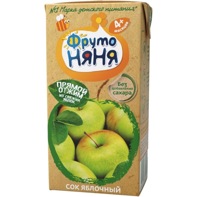 """Сок яблочный прямого отжима с 4 месяцев """"ФрутоНяня"""", 200гр"""
