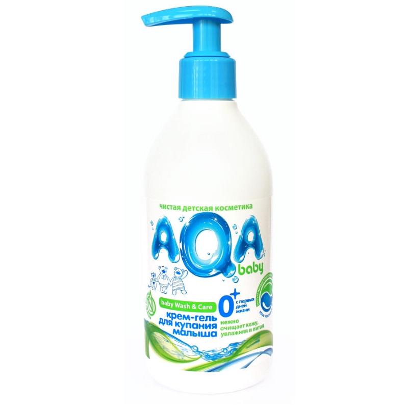 """Крем-гель для купания малыша с первых дней жизни """"AQA baby"""", 300мл"""