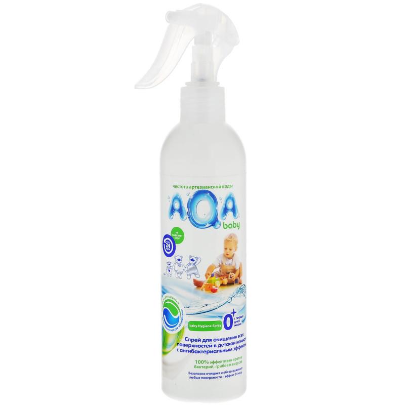 """Антибактериальный спрей для очищения всех поверхностей в детской комнате с первых дней жизни """"AQA Baby"""", 300мл"""
