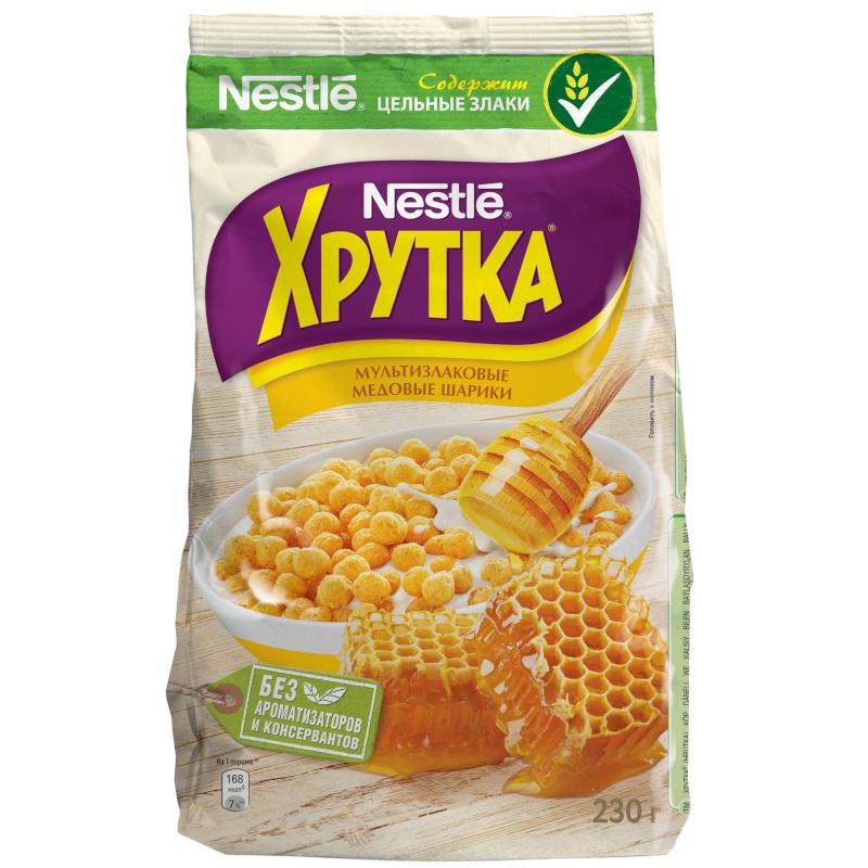 """Готовый завтрак Хрутка медовые шарики """"Nestle"""", 230гр"""