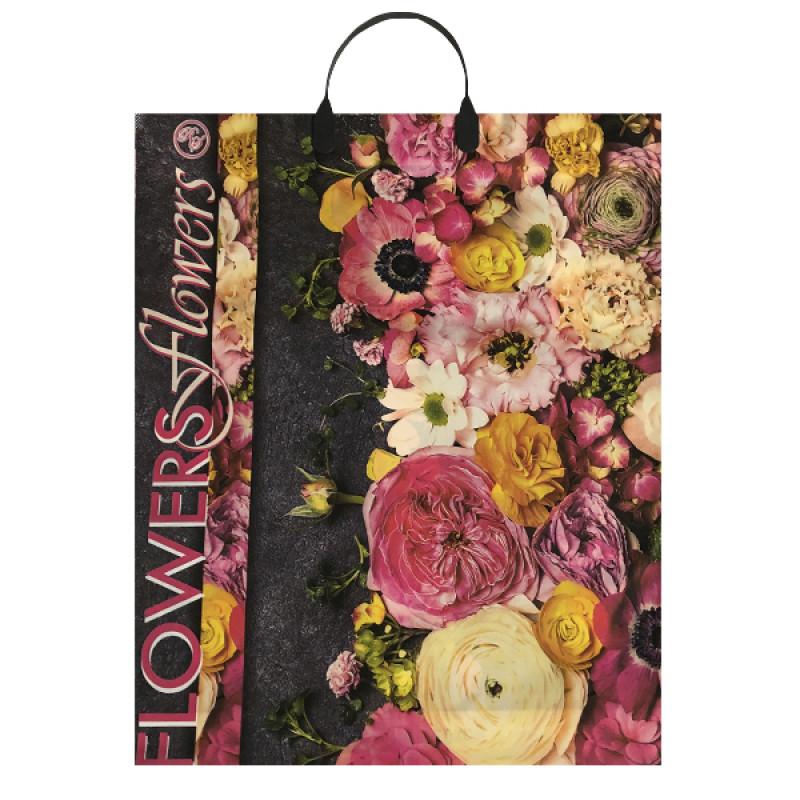 """Пакет подарочный """"Цветы"""" 38*45см, 1шт"""
