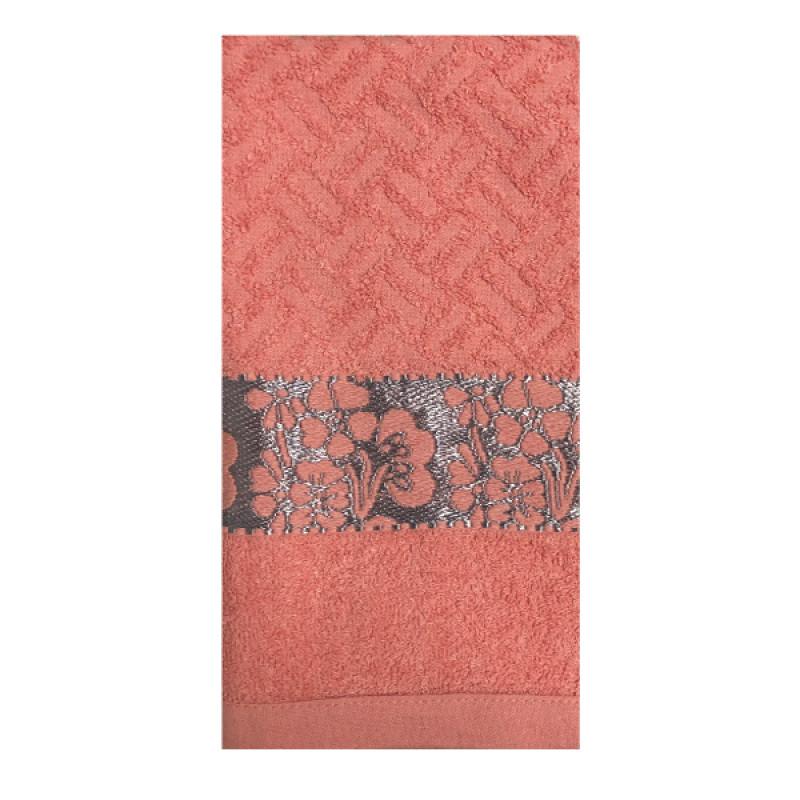 """Полотенце махровое гладкокрашенное розовый 50*90 Geranium Pink Фрезия """"Василиса"""", 1шт"""