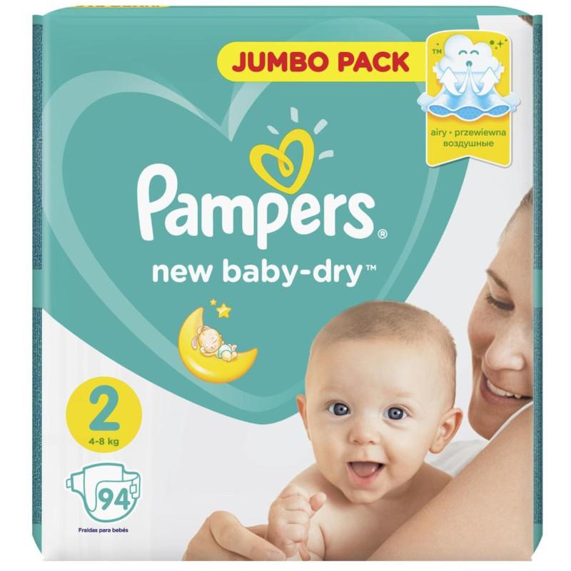 Подгузники Pampers New Baby-Dry 2 4-8кг, 94шт